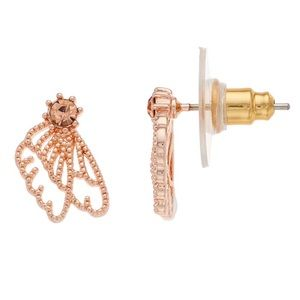 LC Lauren Conrad Rose Gold Tone Wing Earrings